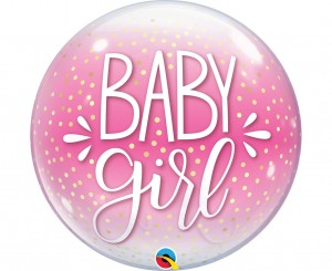Balon foliowy ''Baby Girl'' Bubble 22'' / 56 cm.