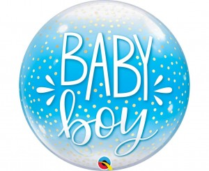 Balon foliowy ''Baby Boy'' Bubble 22'' / 56 cm.